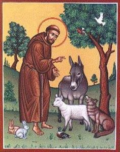 Patron saint of animals.