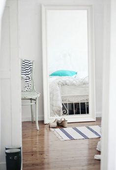 ikea hemnes mirror mirrors, big mirror, beach cottages, room idea, hemn mirror, hemnes mirror, guest rooms, bedroom, girl rooms