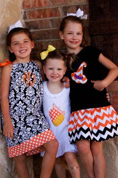 Candy Corn Applique Halloween Dress. $28.00, via Etsy.