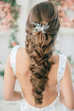 Nice hairstyle for a wedding and it looks like a braid