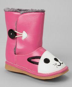 Pink Cat Squeaker Boot