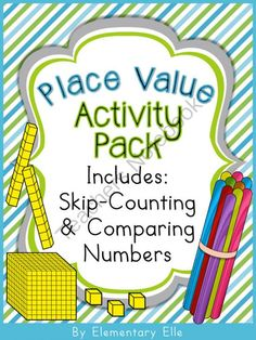 Place Value Activity Pack - Includes Skip-Counting & Comparing Numbers from Elementary Elle on TeachersNotebook.com -  (167 pages)  - Use this place value activity pack to teach base-ten number sense! The pack also covers comparing one, two, and three-digit numbers; and skip-counting by 5�s, 10�s, and 100�s.