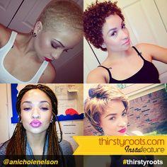 Natural Hairstyles and Makeup