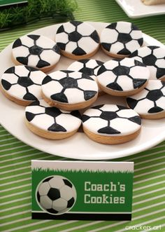 Soccer Cookies---Hubby idea----or for daughter's soccer team!