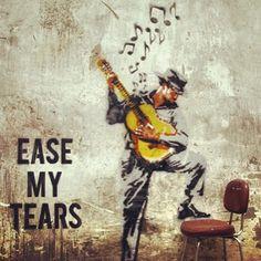 #Street #art #Madrid #Ease #my #tears #music #musician #guitar #beauty