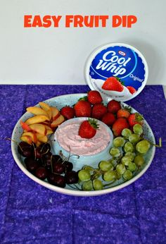 Easy 4 ingredient Fruit Dip | Hezzi-D's Books and Cooks
