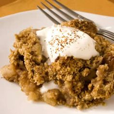 "Maple Apple Crisp | ""Tender apples kissed with maple syrup and covered in a rich, crunchy topping. """