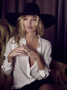 Kate Moss - wide brimmed hat