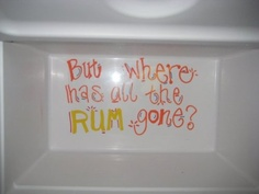 But where has all the rum gone? Cooler idea.