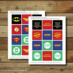 Less Ordinary Designs: FREE PRINTABLES: A Super Hero