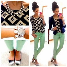 mint jean, work outfits