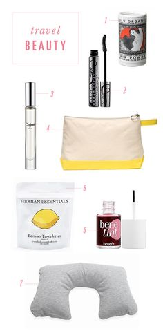 Favorite beauty products to pack for a trip