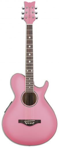 - Pink Guitar. #pinklove #guitar #music http://www.pinterest.com/TheHitman14/hey-ladies-pink-love-%2B/