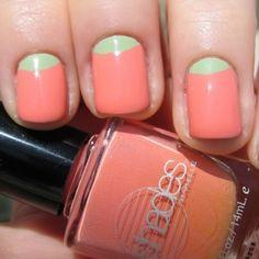 pastels, color combos, spring colors, nail arts, pastel colors, spring nail, nails, moon mani, summer colours