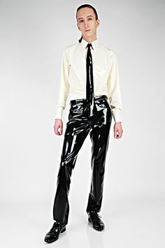 Latex shirt, tie and jeans http://www.erolatex.com jean, tie
