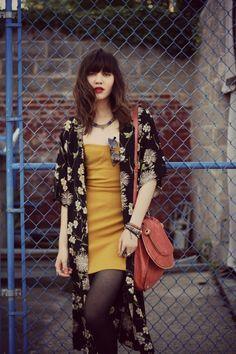 loving this mustard dress