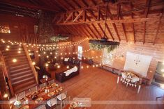 Great overall layout of barn wedding reception...  Vintage Anthropologie style wedding photography from a recent wedding at the Bluewater Farm in NH.