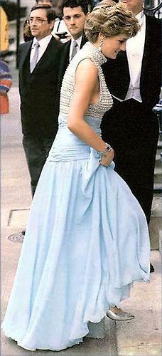 Princess Diana at the London City Ballet. May 6, 1992.