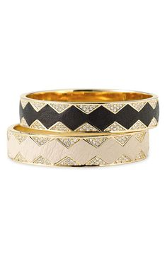 Stack 'em! House of Harlow 1960 Leather Cuffs