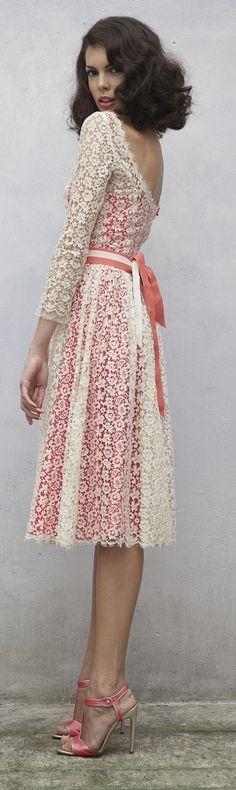 Luisa Beccaria Resort 2014 lace cocktail dress