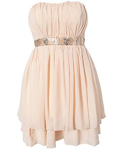Exclusive Dress - Jeane Blush - Nude - Party dresses - Clothing - NELLY.COM Fashion on the net
