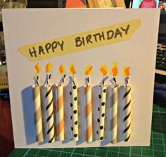 8 candle card