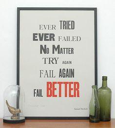 2.21 - Ever tried ever... Samuel Beckett