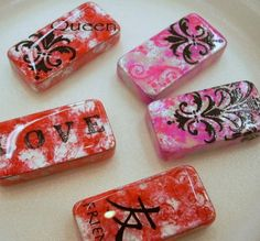 Image detail for -Altered Dominoes and Rub Ons | Vicki O'Dell... The Creative ...