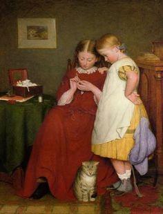 In the Swan's Shadow: The Crochet Lesson, 1859. Edward Thompson Davis