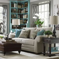 Pick just the right fabric to go with your coastal blue palette with custom made at the HGTV HOME Design Studio. Choose from 1000 fabrics and 50 leathers.