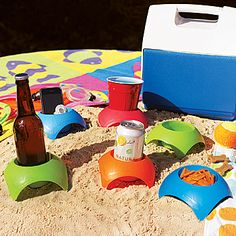 """Turtleback"" drink holder. For picnics & the beach..."