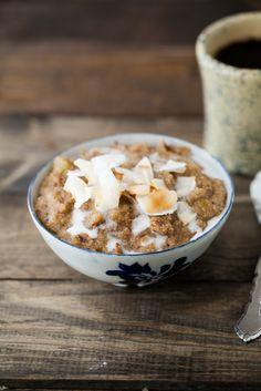 coconut amaranth rhubarb porridge