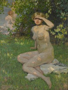 Fox, E.  Phillips (1865-1915) - 1912 The Bathers (National Gallery of Victoria, Australia) by RasMarley, via Flickr