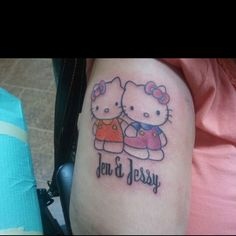 "My ""Hello Kitty"" tattoo I got in honor of my friend Jessy."