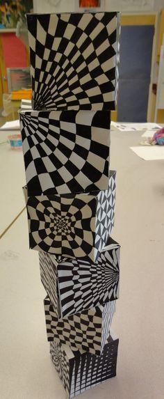 Art Mash: op art cubes