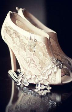 lace bridal shoes, ivory lace shoes, bridal shoes lace, wedding shoes, weddings, the bride, nice shoe, heels, wedding lace