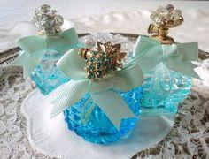 turquoise perfume bottles