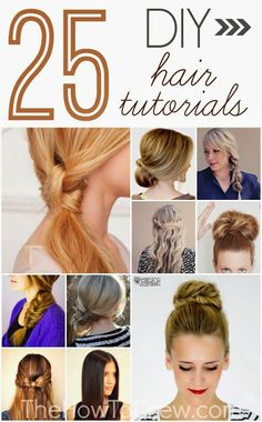 25 DIY Hairstyle Tutorials for Medium to Long Hair from TheHowToCrew.com.  #Hair #Style #Beauty