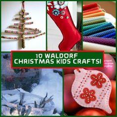 10  WALDORF Christmas Kids Crafts