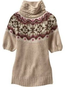 short sleeves... turtle neck... AND Fair Isle?!
