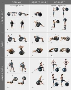 Yoga ball for my upper and lower lower body and core! Must try!