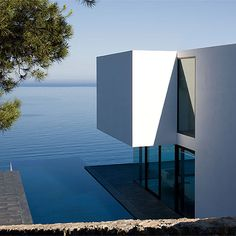 water and white residence
