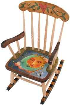 Love the Sun & Moon child rocker, rocking chairs, whimsical rockers, rock chair