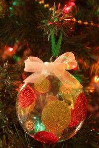 Silhouette Glitter Ornaments.