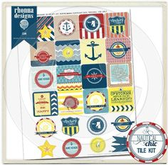 Nautical Chic Tiles Kit from Rhonna Farrer