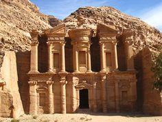 Ancient ruins in Petra, Jordan