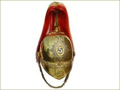 British 5th Dragoon Guards Other Ranks Helmet.  This example is of the 5th (the Princess Charlotte of Wales's) Regiment of Dragoon Guards. In 1922 the Regiment was amalgamated with The Inniskillings (6th Dragoons), to form 5th/6th Dragoons.