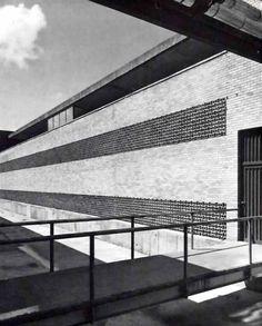 Casa de máquinas, Rastro de la ciudad de México, Azcapotzalco, México DF 1954 Arq. José Villagrán García - Powerhouse, Slaughterhouse of Mexico City, Azcapotzalco, Mexico City 1954