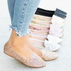 GroopDealz | Glitter Loafers - 5+ Colors