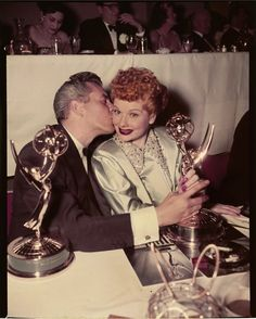Lucille Ball and Desi Arnaz #ILoveLucy